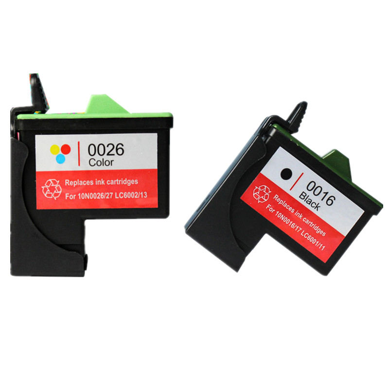 2PK Printers Ink Cartridges Compatible For Lexmark 16 26 Replaces For Lexmark Printer Ink  X1110 X1140 X1150 X1155 X1185