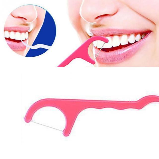 d7251b2ce 50 pçs set palitos palitos fio dental oral ferramentas limpas assistência  odontológica dentes de plástico
