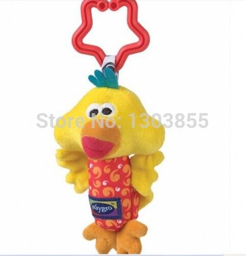 Kids Baby Soft Toy Animal Handbells Rattles Bed Stroller Bells Developmental Toy yellow duck