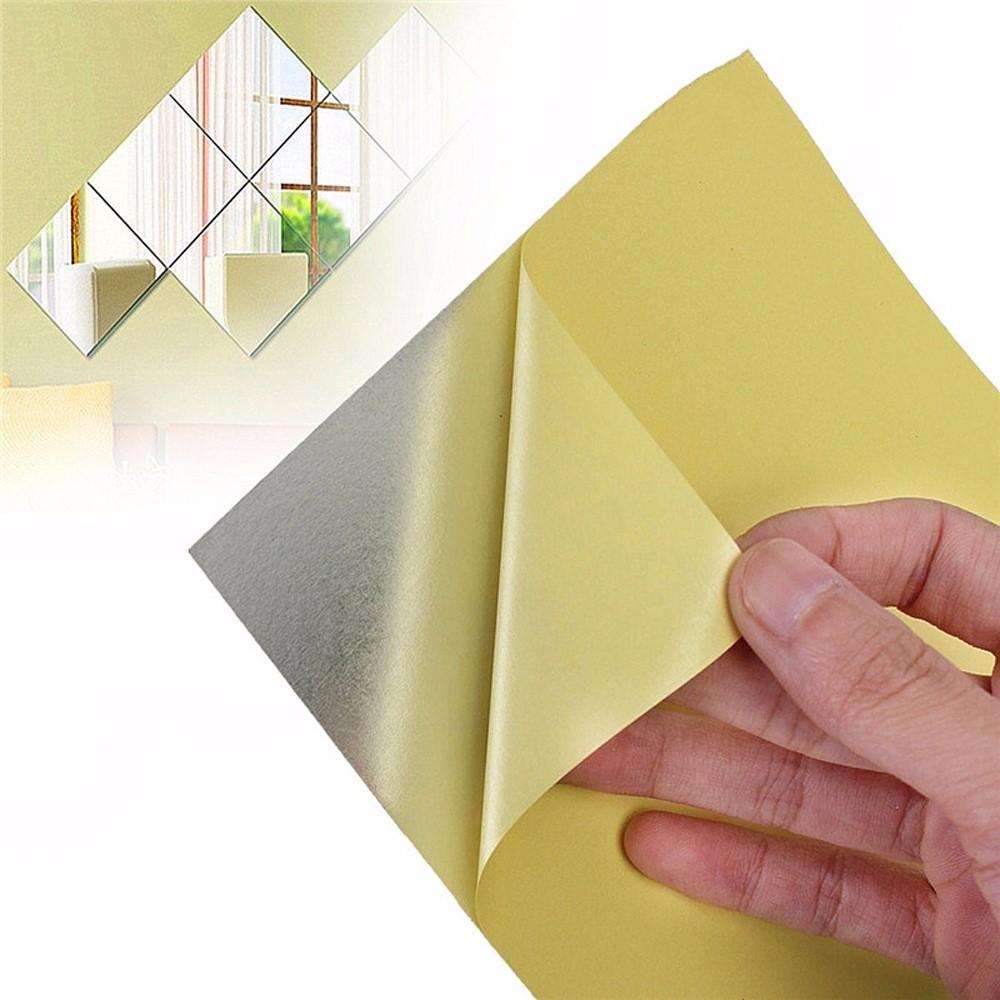 40 Stücke 3D Spiegel Wandaufkleber selbstklebende DIY Spiegel ...