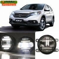 EeMrke סטיילינג המכונית הונדה CR-V CRV CR V 2012-up 2 ב 1 בשעתי יום מנורת אור ערפל LED DRL עם עדשה אורות