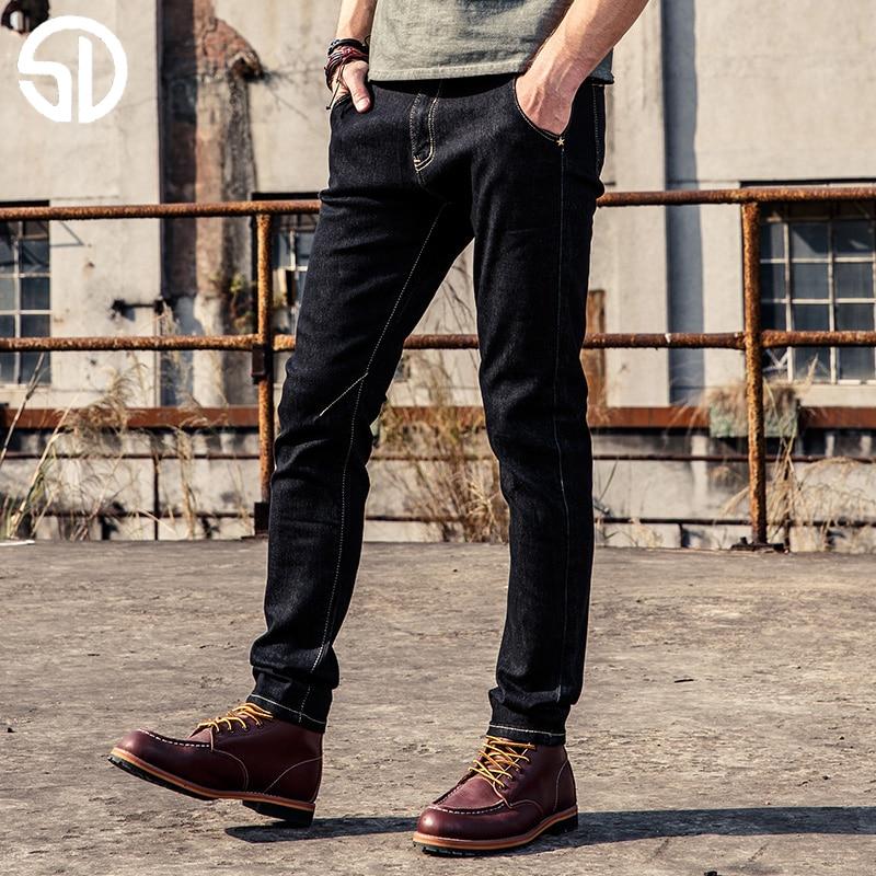 2017 New design Spring Famous Brand Men Slim Jeans male Cotton Straight Pants Long denim Trousers Cool Style Men's Jean new 2016 famous brand men jeans male pants casual stretch slim straight long man trousers jeans for men denim pants y433