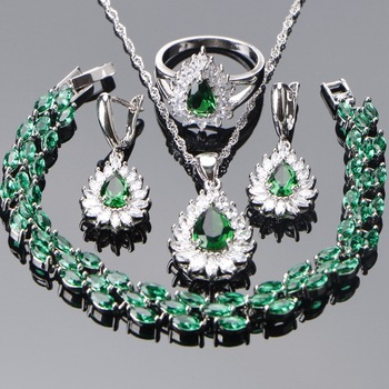 Wedding Bridal Jewelry Sets Women 925 Sterling Silver