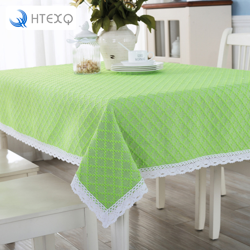 New Arrivals pastoral green pattern cotton & polyester dining tablecloth ethnic style bohemian decor