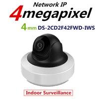 Hikvision English Version DS 2CD2F42FWD IWS 4MP WDR Mini PT Network Cctv Camera MINI WIFI IP