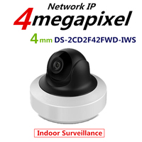 Hikvision English Version DS 2CD2F42FWD IWS 4MP WDR Mini PT Network Cctv Camera MINI WIFI IP