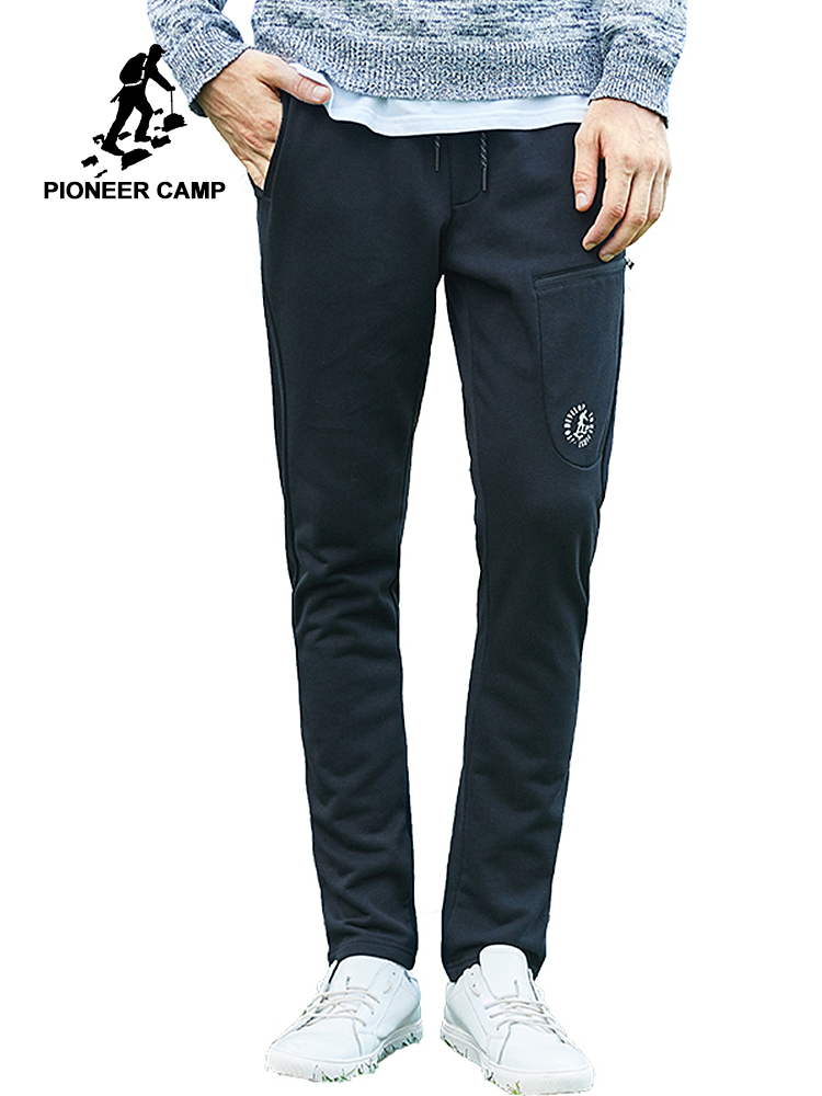 Pioneer Camp 2018 New arrival sweatpants men casual simple joggers pants male top quality trousers black white AZZ701131