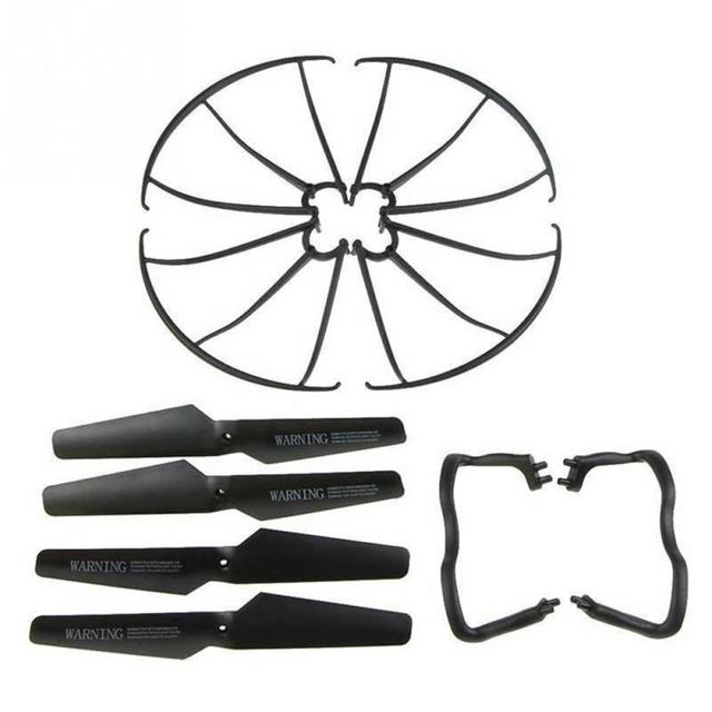 Lightweight Drone Accessories 4 pcs Blade/Tripod/Protection ring Main Propeller Replacement Spare Parts for Syma X5 X5C 2