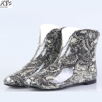 Floss Women Rain Boots Waterproof Ankle U Lady Rainboot Luxury Designers Women Rubber Environmental Comfortable Shoes