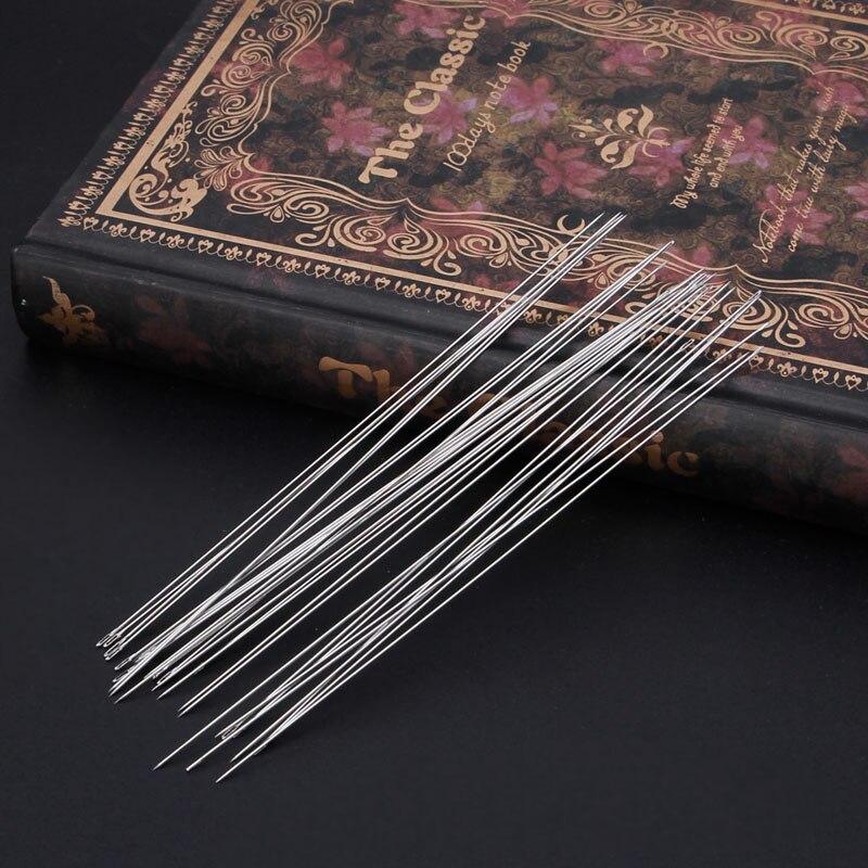 30pcs Beading Needles Threading String Cord Jewelry Craft Making Tool 0.6 x 120mm