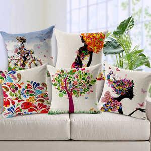Image 1 - Привлекательный цветочный принт, наволочка с рисунком, чехол s, супер ткань, домашняя кровать, декоративная наволочка, наволочка, чехол