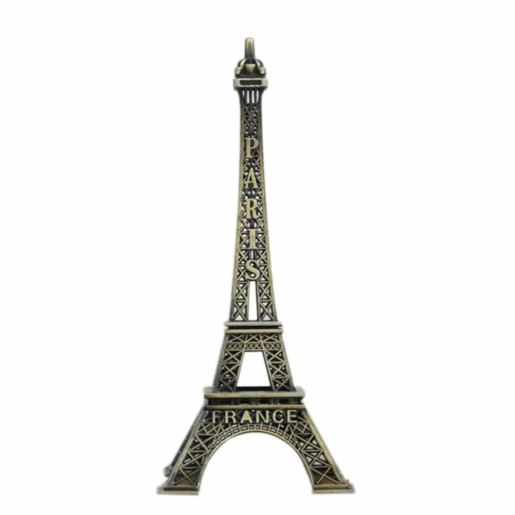 Hot Torre Paris France Lembrança Lembrança de Turismo Do Vintage Metal Modelo 5 cm-25 cm