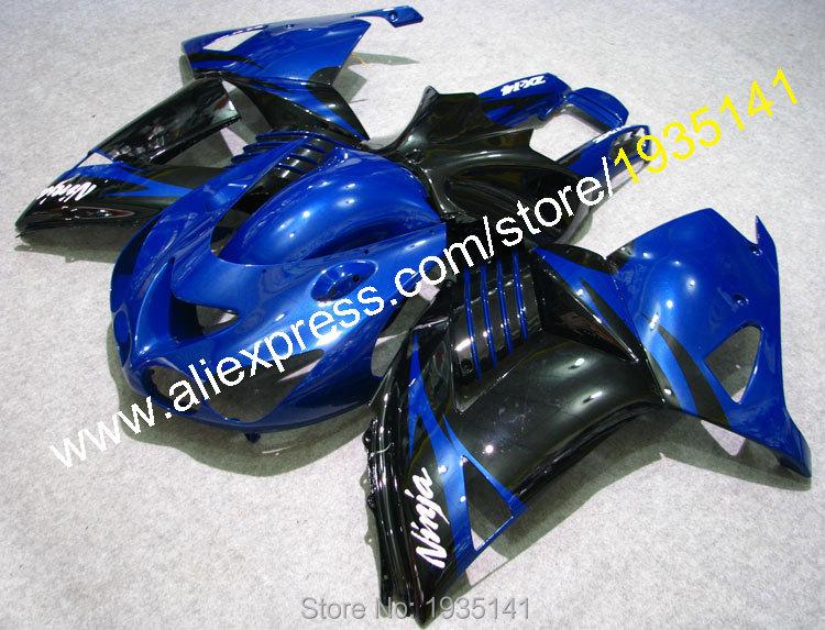 Горячие продаж,для Kawasaki обтекатели комплект ниндзя ZX14R 2006-2011 СЗР 1400 06 07 08 09 10 11 синий черный тело на ZX-14Р (Инжекционный метод литья)