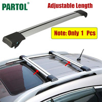 Partol 1 X Car Roof Rack Cross Bar Lock Anti Theft SUV Top 150LBS 68KG Aluminum