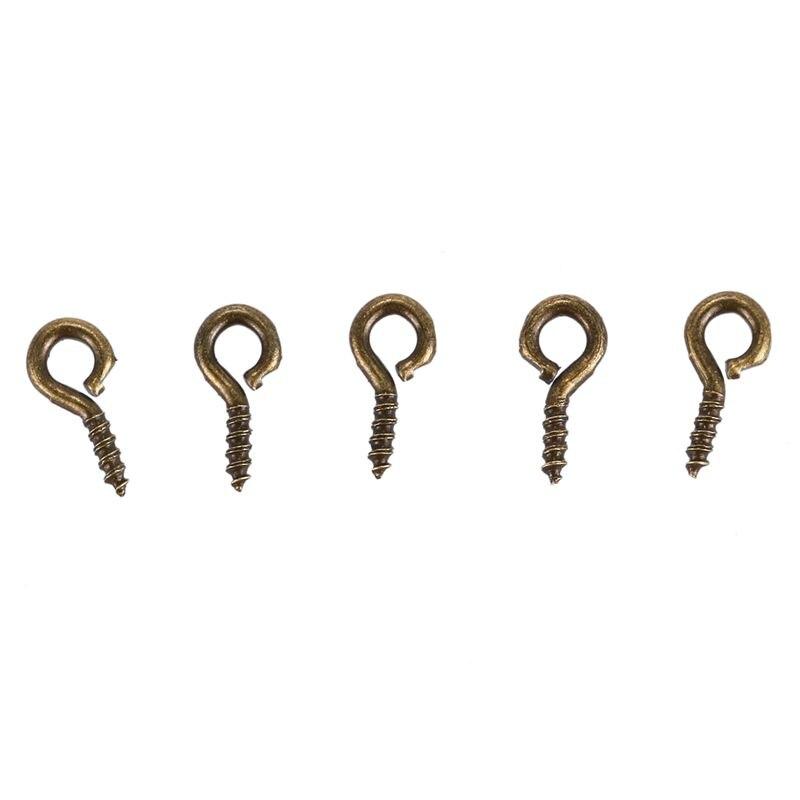 Petit Mini Tiny eye pins eyepins Crochets Oeillets Filetés Vis Bronze 8mm 50 100