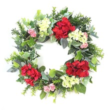 Artificial Hydrangea Wreath Garland Door Window Hanging Wedding Decor Simple elegant and comfortable color Silk flowers garland flowers wedding decoration artificial hydrangea vine party plastic flowers wall decor rattan silk flower wisteria wreath