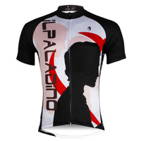 Free Shipping Men Short Sleeve Cycling Apparel Breathable Bike Jersey Black Ropa Ciclismo Hombre Size S