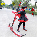 Anime RWBY Red Trailer Ruby Weapon Sickle Cosplay Props Custom Made