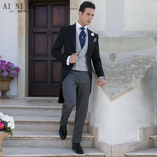New Mens Slim Fit Suits Style Men Tailcoat Men S Wedding Suits Groom