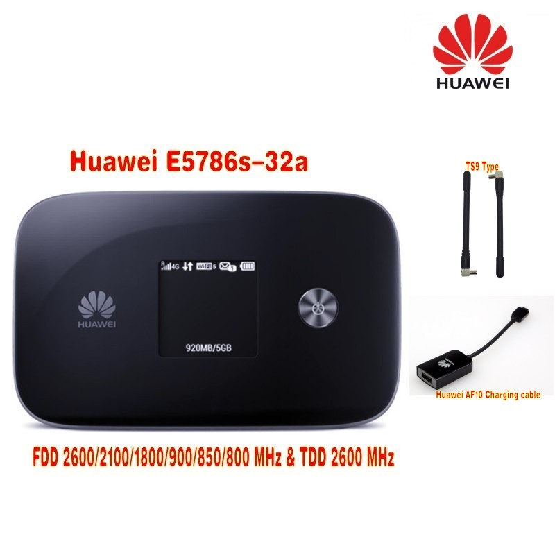 Huawei E5786s-32a 300MBPS 4G LTE MOBILE BROADBAND ROUTER Plus  Antenna TS9 & huawei  AF10  Charging  Adapter