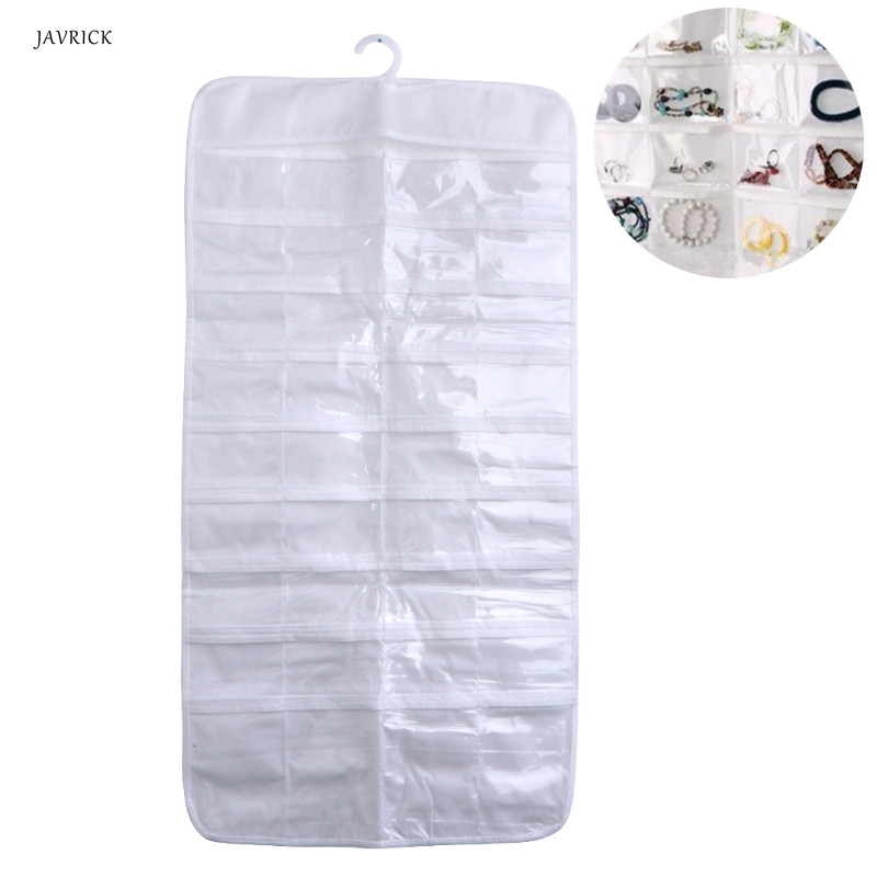 72 Pocket Jewelry Hanging Storage Organizer Holder Earring Bag Pouch Display Hot
