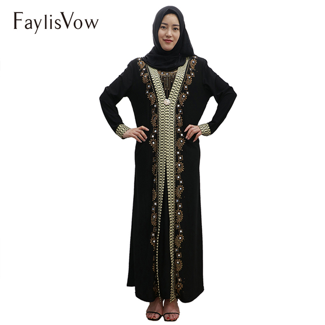 Design Islamic Dress Women Abaya Middle East Long Robe Gowns Dubai Abaya  Hijab Arab Worship Prayer 6a4a9ed966f4