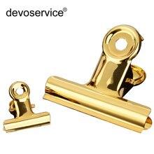 1 шт золотые металлические зажимы для бумаги 30 мм 80