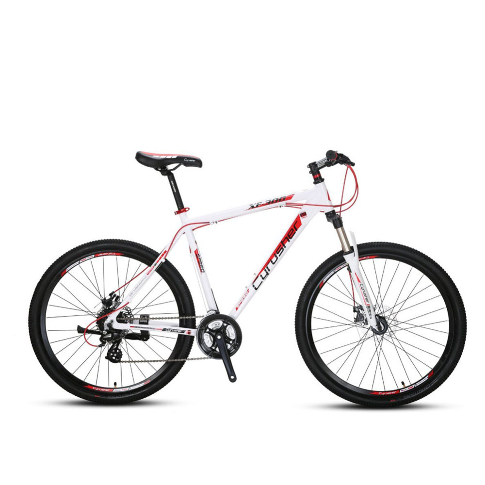 Cyrusher XF300 Mountain Bike 24 Speed Lightweight 27.5X21 Aluminum Frame Fork Suspension Mans MTB Mechanical Disc Brake mountain bike four perlin disc hubs 32 holes high quality lightweight flexible rotation bicycle hubs bzh002