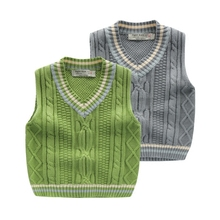 The boy knitted vest in the autumn of 2017 sets the new children's wear children's vest The baby horse coat U6278