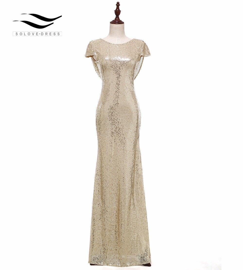 Блестки плаття нареченої шампанське сяючий лінія довгі нареченої нареченої сукні сексуальні нареченої сукні 2018 довгі вечірні сукні 613  t