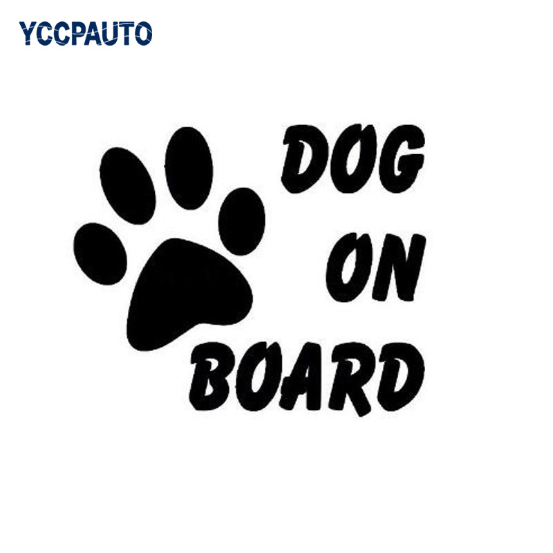 Car-Styling Car Stickers 133*47mm Dog In Car Sticker Vinyl Decal Pet On Board Auto Warning Truck Car Sticker Black/White ...