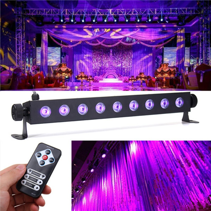 Big Promotion Muti Mode 27W UV Purple Stage Light Lighting Effect Blacklight Bar Lights Lamp For