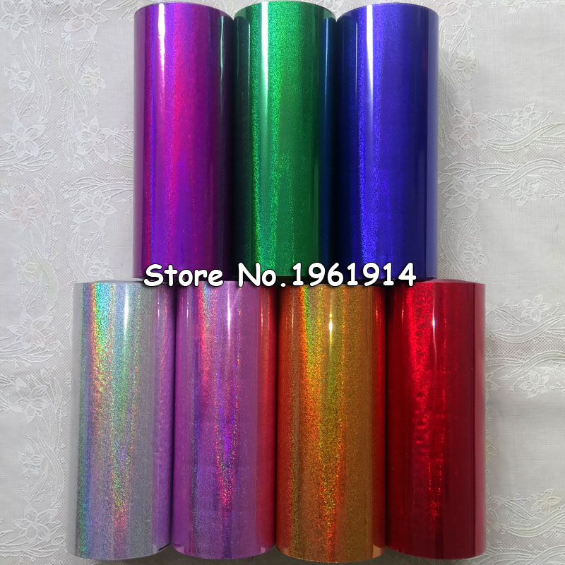 Hot Stamping Foil Paper Roll Holographic Fine Sand Foil Or Plastic 16cm X120m Gold Silver Green Red Purple Blue Pink For Choose
