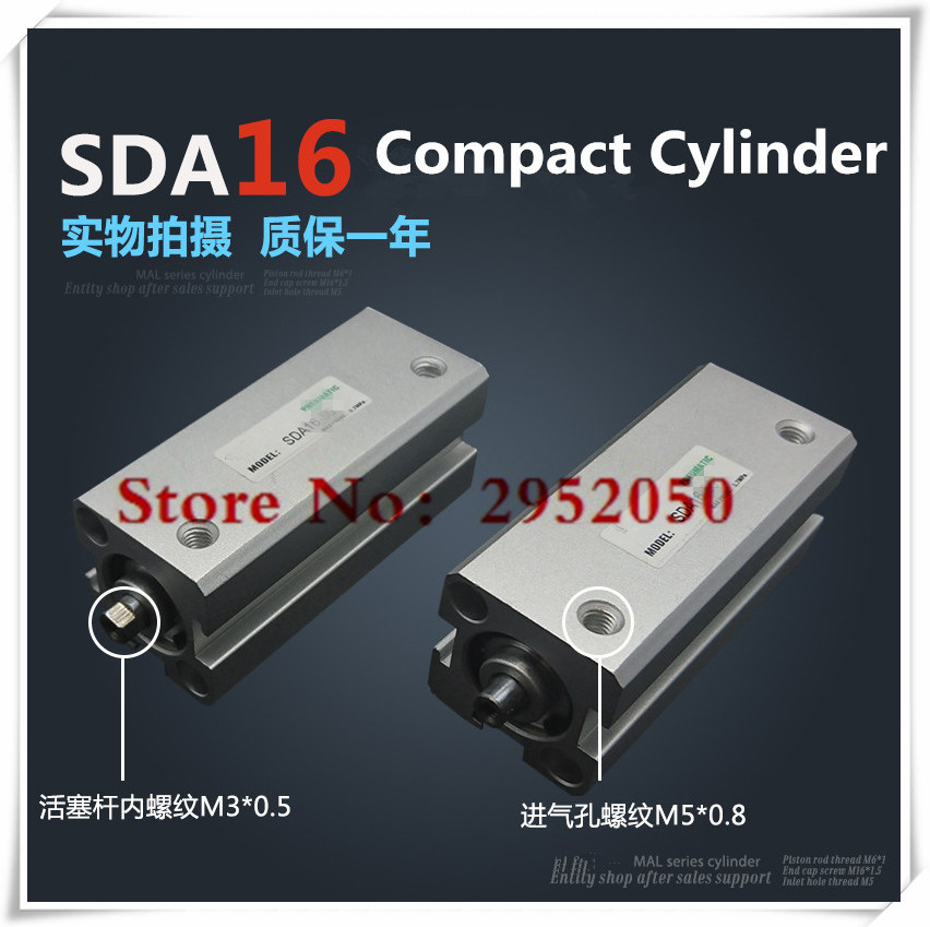 SDA16*90-S Free shipping 16mm Bore 90mm Stroke Compact Air Cylinders SDA16X90-S Dual Action Air Pneumatic Cylinder, magnet sda16 70 s free shipping 16mm bore 70mm stroke compact air cylinders sda16x70 s dual action air pneumatic cylinder magnet