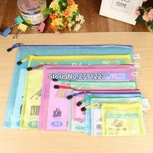 535d424bce1 200PC Waterproof Gridding Zipper Bag Document Pen Filing Products Pocket  Folder Office   School Supplies Gift bag
