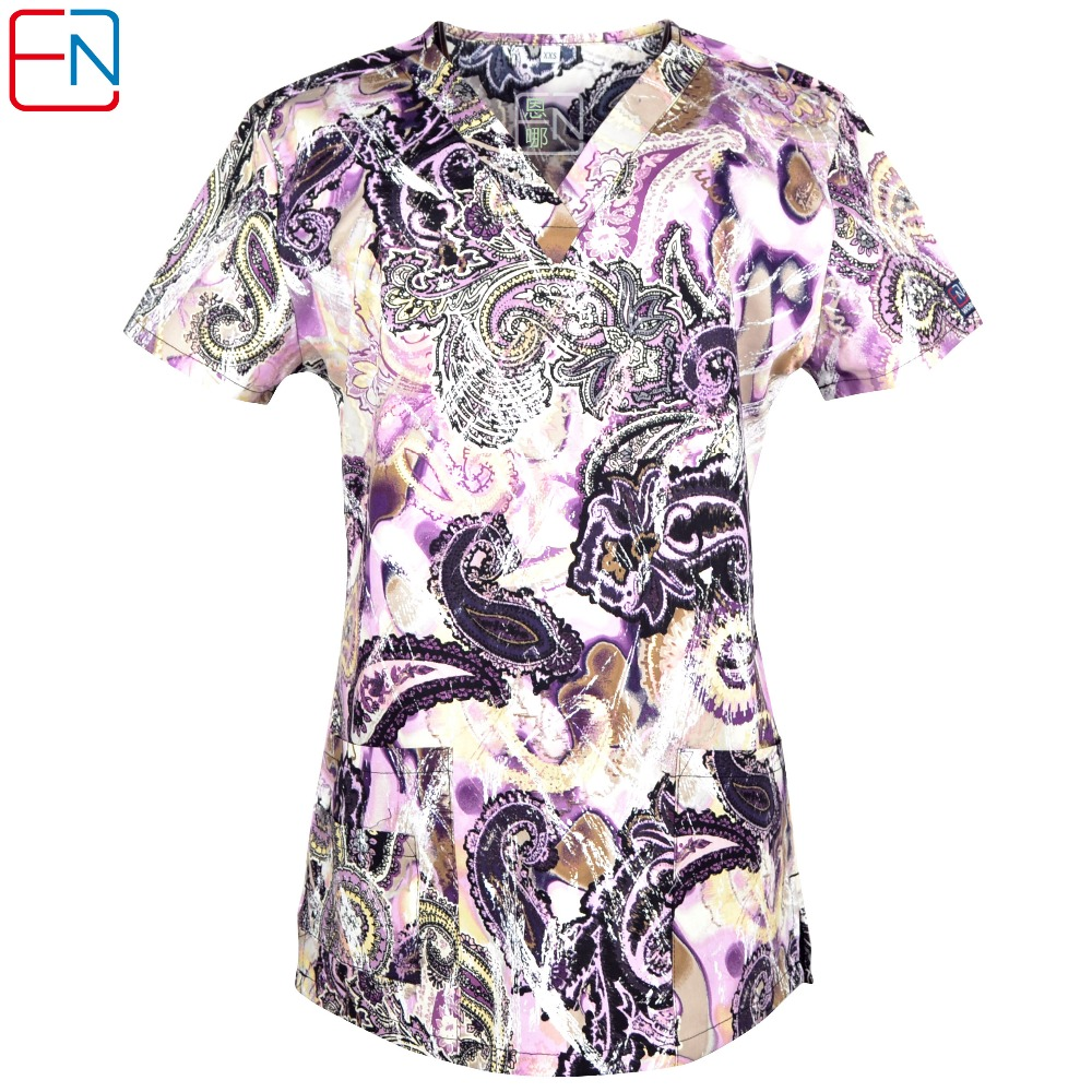 Women Scrub Top L