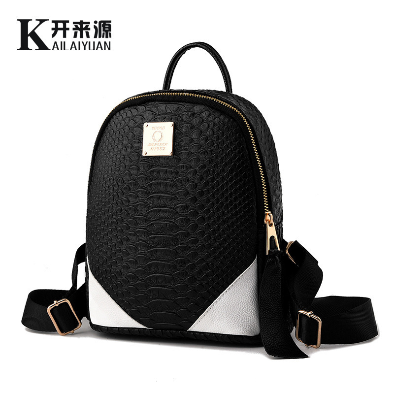 ФОТО Fashion PU square backpack backpack solid simple handsome girl's shoulder