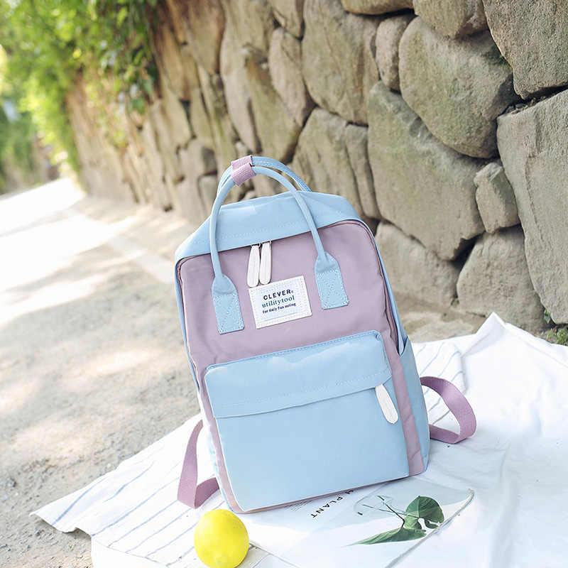 Daffdiol Wanita Ransel Tas Sekolah untuk Remaja College Kanvas Ransel Perempuan Ritsleting Fashion 15 Inch Laptop H20