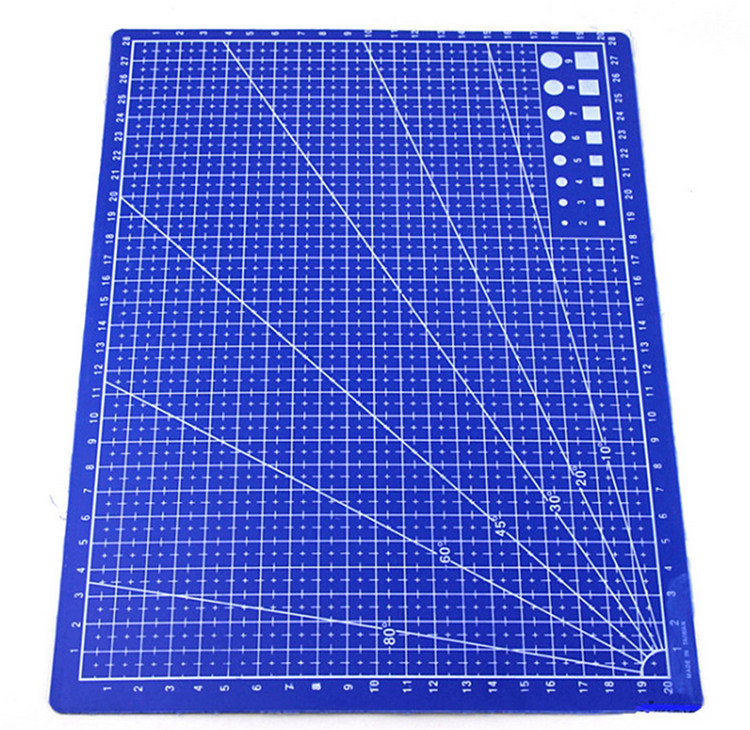 100 Pcs A4 Grid Lines Self Healing Cutting Mat Craft Card Fabric Leather Paper Board