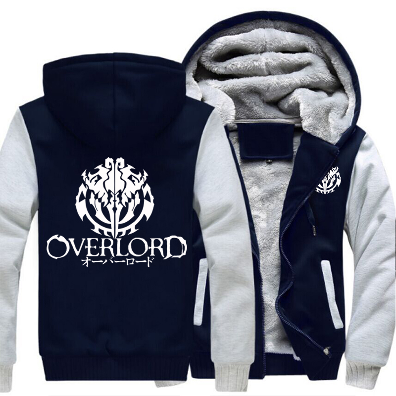 Image 4 - Fashion Mens Hooded Anime Overlord Fleece Thicken Hoodie Unisex 