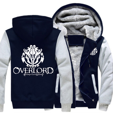 Men's Anime Overlord Fleece Hooded Jacket