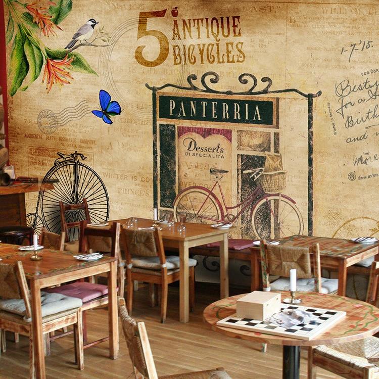 England wallpaper theme coffee tea shop personalized wallpaper bar restaurant French mural  недорого