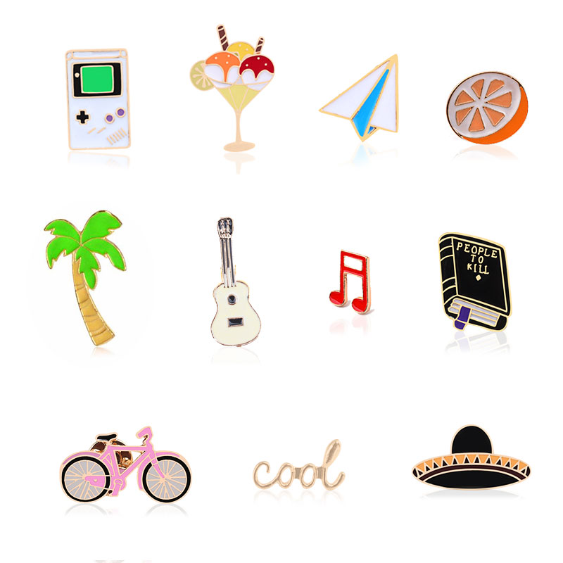 Custom Lapel Pin Brooches Happiness Can Be Found Quote Banquet Badge Pins Trendy Accessory Jacket T-Shirt Bag Hat Shoe