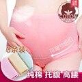3 ropa interior de algodón equipado ascensor estómago embarazada cintura ajustable ropa interior de algodón ropa interior de mujer embarazada yardas grandes cinturones