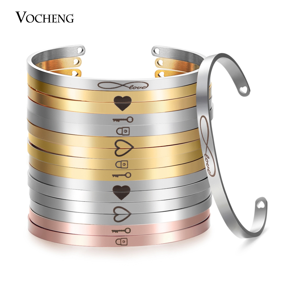 10pcslot Stainless Steel Hand Stamp Mantra Bangle Couple Engraved Inspirational Bracelet Width 4mm Cuff Bangle SL-014*10