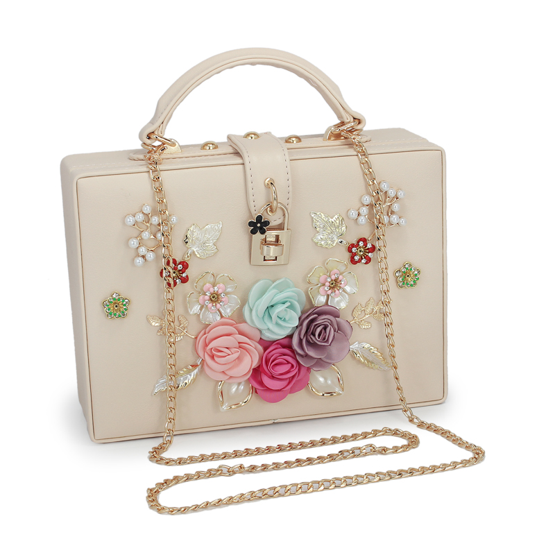 New arrival fashion box shape flower pattern ladies party handbag shoulder bag women's crossbody messenger bag purse(C1668) vintage fashion letter book shape pu purse daily clutch bag ladies shoulder bag chain handbag crossbody mini messenger bag