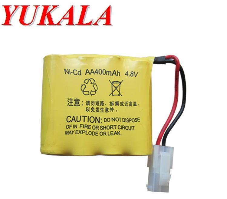 YUKALA 4.8V 400mAh N-CD AA Battery for 508 611 605 550 RC car RC boat RC tank 2pcs/lot Free shipping yukala ft012 2 4g rc racing boat hq734 rc car 11 1v 2700 mah li polymer battery