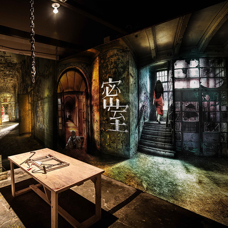 3D photo wallpaper 3D Zombie horror wallpaper theme house bar lounge background wallpaper shadow lady private Theater mural