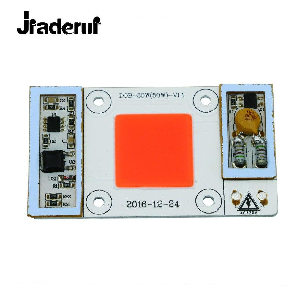 Jiaderui 110V 220V 30W 50W Grow LED Chip Matrix Full Spectrum 380nm - 840nm LED COB Grow Lights For Greenhouse Plants