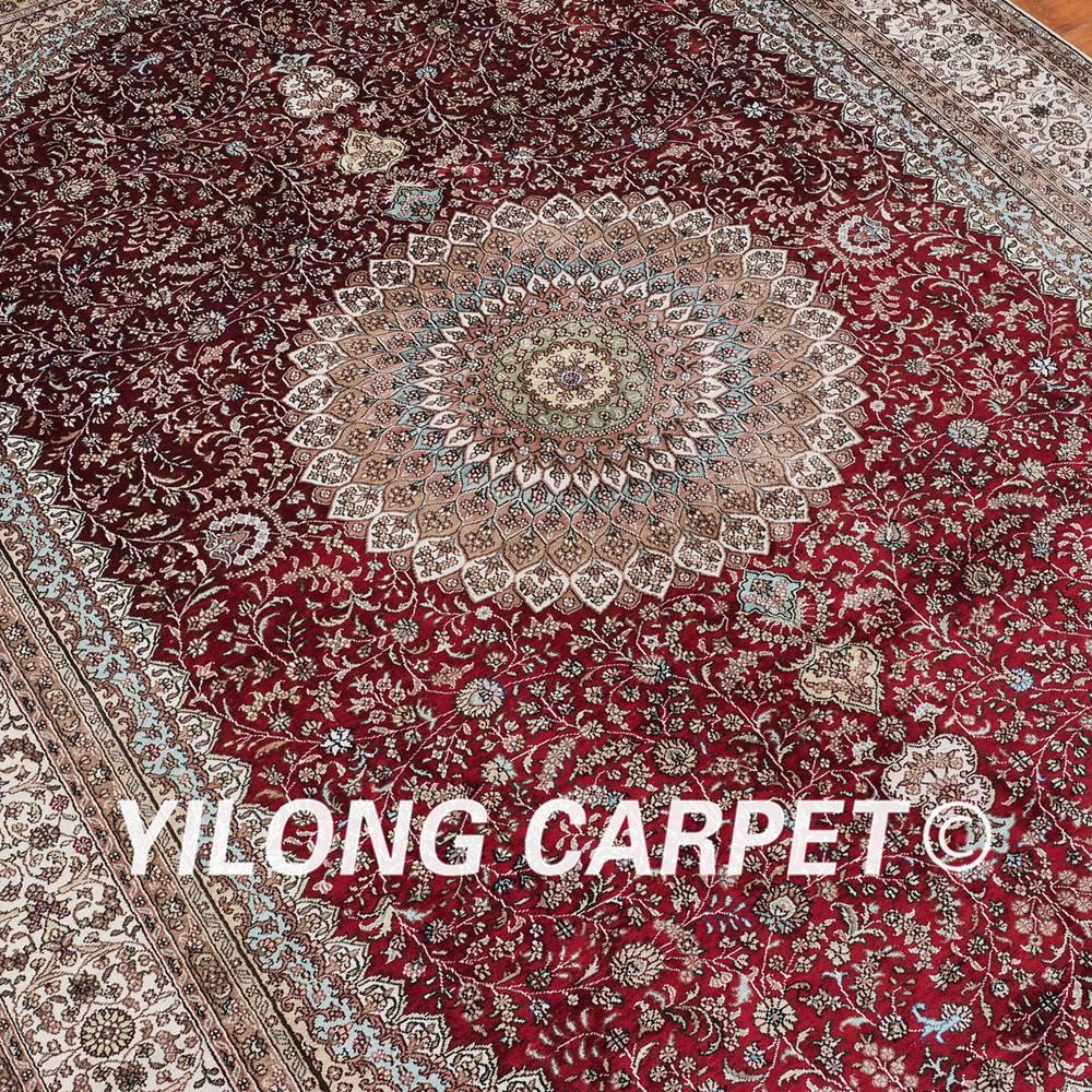 Yilong 6 X9 Vantage Oriental Carpet Traditional Red Persian Carpet